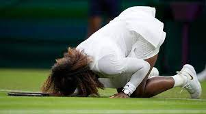 Serena Williams in tears after Wimbledon exit