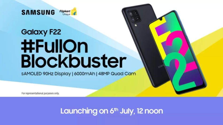 Samsung Galaxy F22 With 90Hz Display, 6,000mAh Battery Launching in India on July 6
